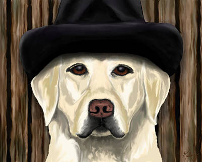 Pups Digital Art - Cool Dude by Kelly Miller