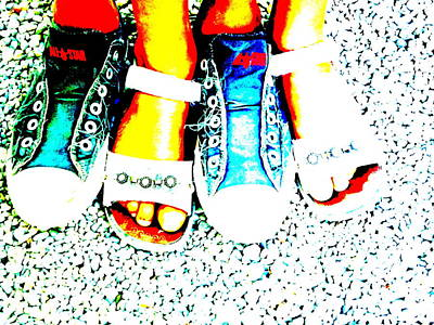 Converse Digital Art - Cool Feet by Funkpix Photo Hunter