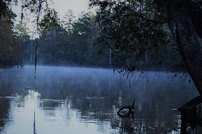 Photograph - Cool Fog At Oxbow Trailhead by Warren Thompson
