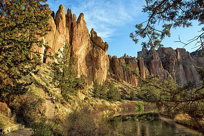 Photograph - Cool Formations Of Smith Rock In Morning Light by Belinda Greb