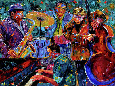 Wall Art - Painting - Cool Jazz by Debra Hurd
