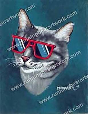 Painting - Cool Kitty by Michael Meissner