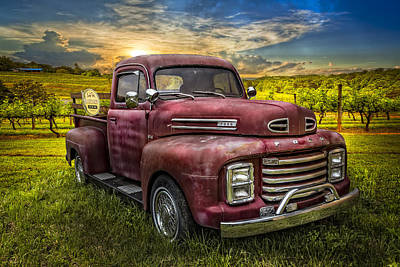 Ford Watercolor Photograph - Cool Old Ford by Debra and Dave Vanderlaan