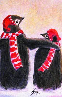 Drawing - Cool Pals by Angela Davies