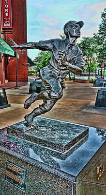 Photograph - Cool Papa Bell Statue # 2 - Busch Stadium by Allen Beatty