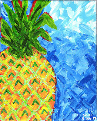 Painting - Cool Pineapple by Kasia Bitner