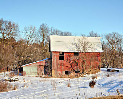Photograph - Cool Red Barn by Bonfire Photography