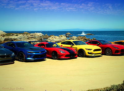 Photograph - Cool Rides At Pacific Grove by Joyce Dickens