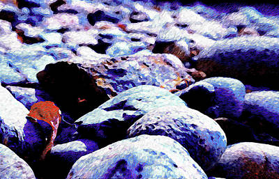 Photograph - Cool Rocks- by JD Mims