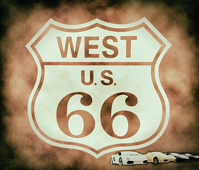 Photograph - Cool Route 66 by David Millenheft