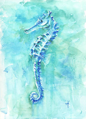 Painting - Cool Sea Horse by Arthur Fix