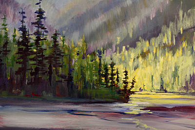 Painting - Cool Side Of The Lake by Nancy Merkle
