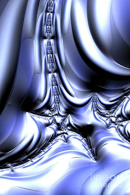 Digital Art - Cool Silver by Steve Purnell
