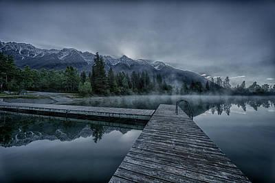 Kootenay Lake Photograph - Cool Sunrise On Norbury Lake by Darcy Michaelchuk
