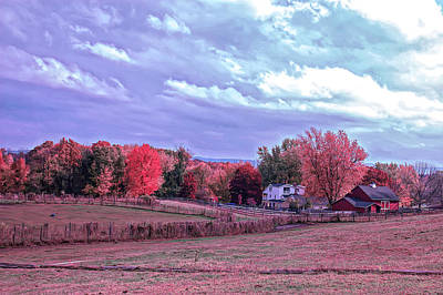 Photograph - Cool Sunset Autumn Farm by Aimee L Maher Photography and Art Visit ALMGallerydotcom