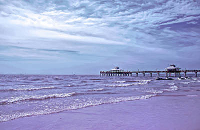 Photograph - Cool Sunset Fort Myers Pier by Aimee L Maher Photography and Art Visit ALMGallerydotcom