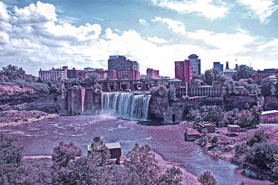 Photograph - Cool Sunset High Falls by Aimee L Maher Photography and Art Visit ALMGallerydotcom
