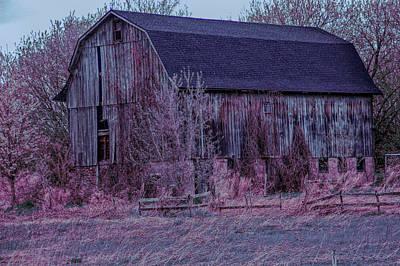 Photograph - Cool Sunset Rustic Barn Close Up by Aimee L Maher ALM GALLERY
