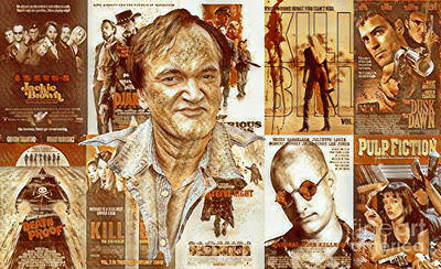 Grindhouse Mixed Media - Cool Tarantino Poster by Pd