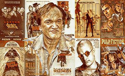 Woodies Mixed Media - Cool Tarantino Poster by Pd
