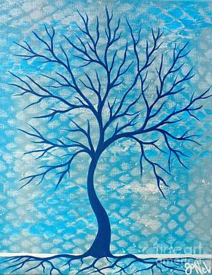 Painting - Cool Tree Blue by JoNeL Art
