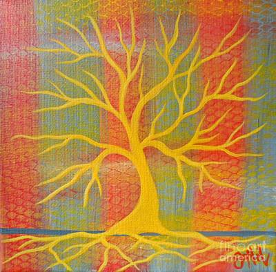 Painting - Cool Tree Orange by JoNeL Art