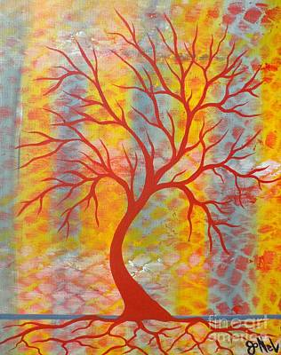 Painting - Cool Tree Red by JoNeL Art