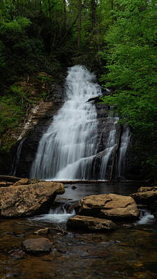 Photograph - Cool Waterfall Georgia Mountains by Lawrence S Richardson Jr