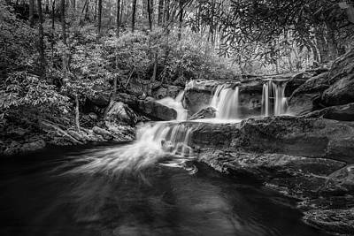 Waterfalls And Trees Landscape Photograph - Cool Waters In Tremont by Jon Glaser