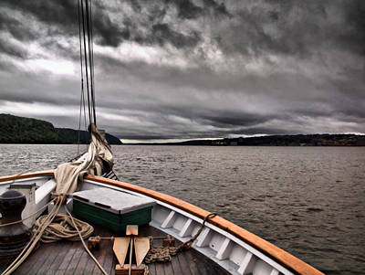 Cool Winds On The Hudson Art Print by Valerie Morrison