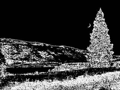 Winter Night Digital Art - Cool Winter Night by Will Borden