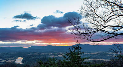 Photograph - Cool Winter Shenandoah Sunrise by Lara Ellis