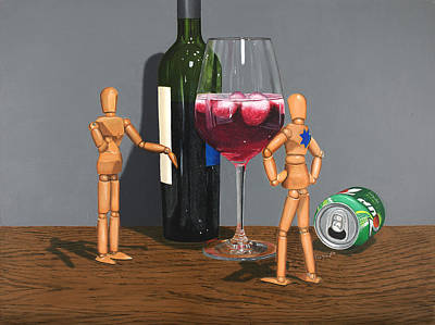 Manikins Painting - Coolers Are Cool by Tom Swearingen