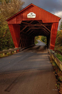 Photograph - Cooley Bridge, Pittsfield, Vermont by Tim Bryan