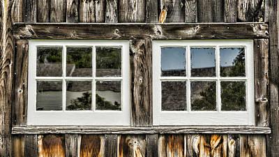 Rustic Barn Interior Photograph - Coolidge Barn Windows by Stephen Stookey