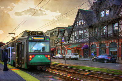 Photograph - Coolidge Corner Brookline T Stop by Joann Vitali