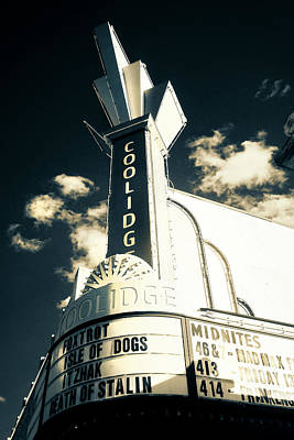 Photograph - Coolidge Corner Theatre In Infrared by Joann Vitali