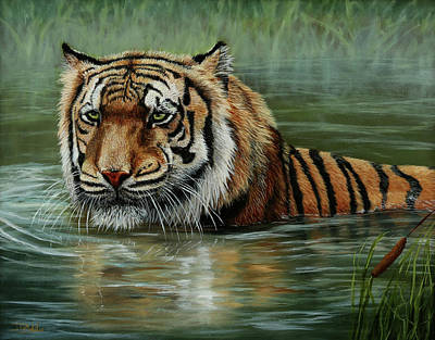 Painting - Cooling Off by Jan Priddy