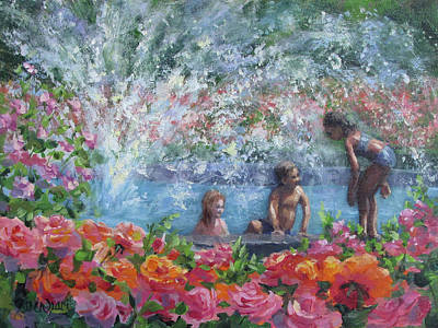 Painting - Cooling Off by Karen Ilari