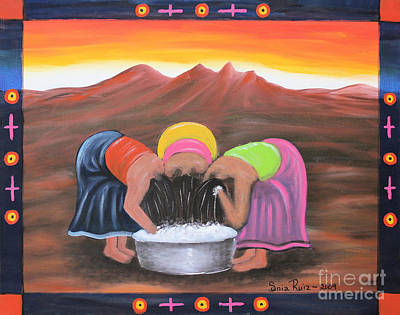 Chicano Art Mixed Media - Cooling Off by Sonia Flores Ruiz
