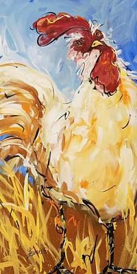 Painting - Coop Caper by Terri Einer