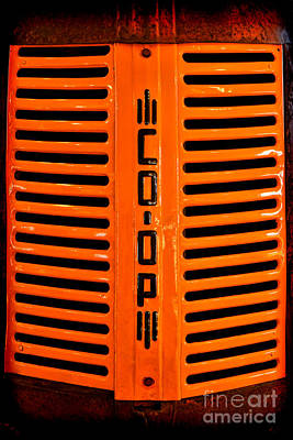 Photograph - Coop Tractor Grille  by Olivier Le Queinec