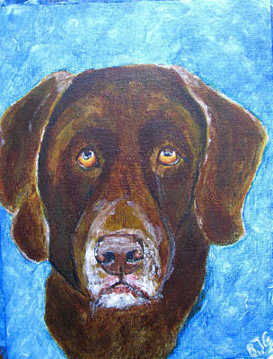 Art Print featuring the painting Cooper 3 by Barbara Giordano