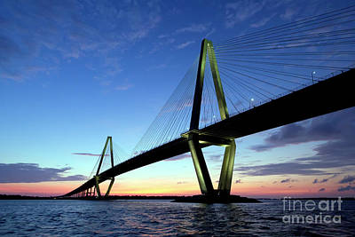 Coopers Photograph - Cooper River Bridge Charleston Sc by Dustin K Ryan