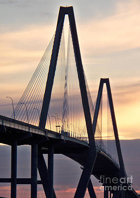 Cooper River Bridge Art Print by Melanie Snipes