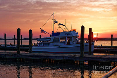 Photograph - Cooper River Landing Sunset by Paul Mashburn