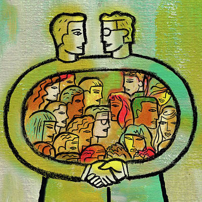 Cooperation And Support Art Print