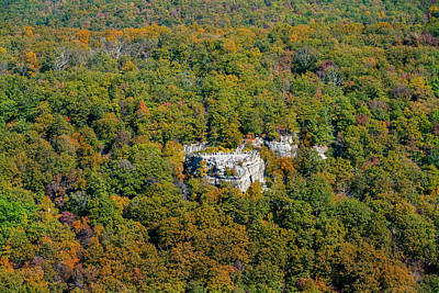 Photograph - Coopers Rock Aerial Photo In The Fall by Dan Friend