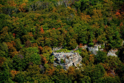 Photograph - Coopers Rock Aerial Photos In The Fall Colors by Dan Friend