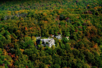 Photograph - Coopers Rock Aerial Photos In The Fall by Dan Friend